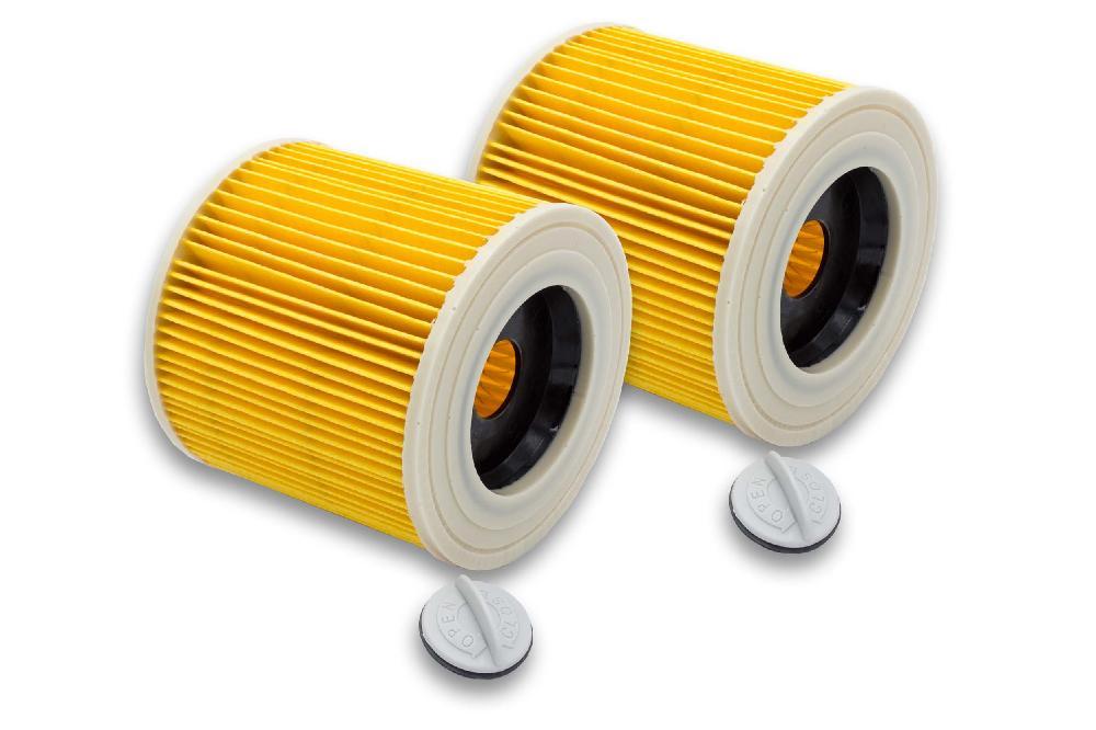 WD 2.200 WD 3.300 M 2x Patronen-Filter Satz für Kärcher SE 4002 WD 3.200
